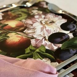 24 Disposable Placemats | Antique Peaches
