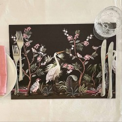 24 Disposable Placemats | Herons in Garden
