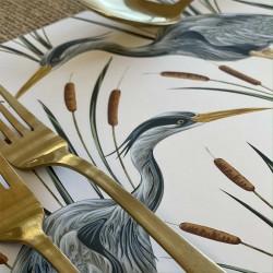 24 Disposable Placemats | Heron
