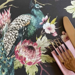 Disposable Placemats | Peacock in Paradise