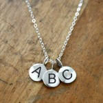 Alphabet Letter Charms   on Silver Chain