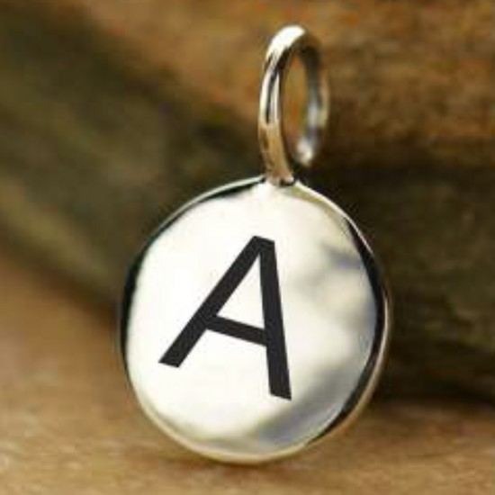 Alphabet Letter Charms | on Silver Chain