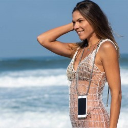 Braided Phone Necklace and Cellphone cover | Gun Metal Fittings