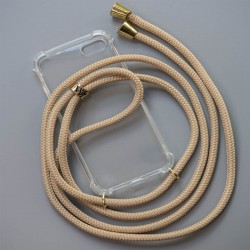 Braided Phone Necklace and Cellphone cover | Gold Fittings