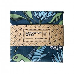 Sandwich Wrap | Protea Blue on Gunmetal