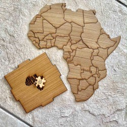 Africa Puzzle in Wooden Box