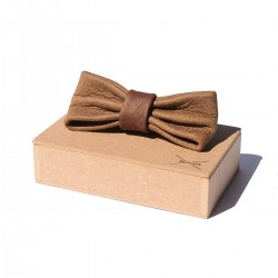 Leather Bow Tie | Brown
