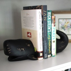 Whale Bookends Black