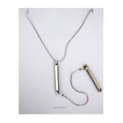 Bar Drop Down Chain Necklace