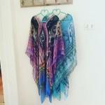 Chiffon Kaftan | Purple or Blue