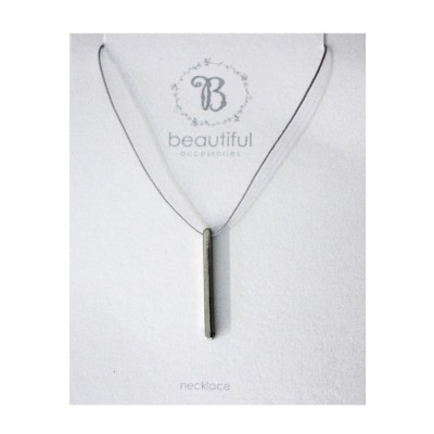 Bar on Adjustable Cord Necklace
