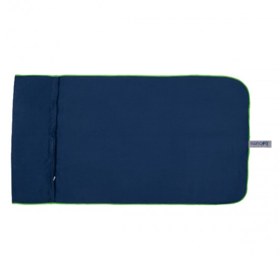 Microfibre   Gym Towel   Navy and Lime
