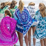 Beach Towel | Round | Mandala Green