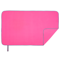 Quick Dry Towel | L | Neon Pink & Turquoise