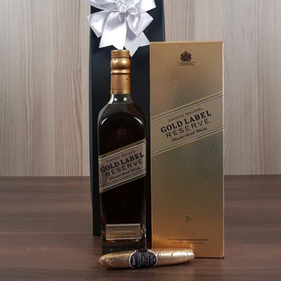 Johnnie Walker Gold Cigar Box