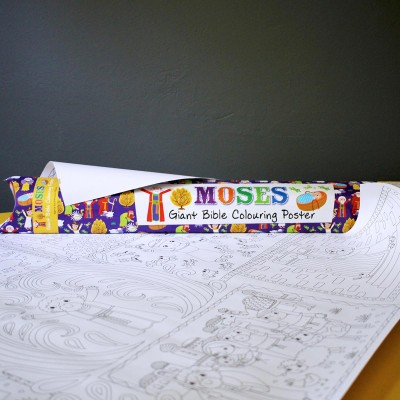Giant Bible Colouring Poster - Moses