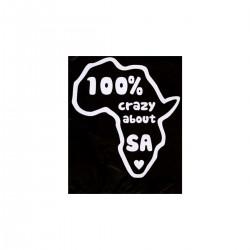 100% Crazy About SA | VINYL STICKER