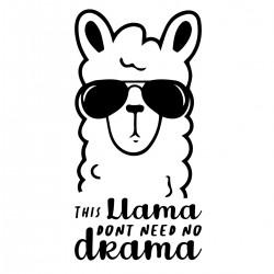 Llama Drama | VINYL STICKER