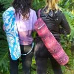 Yoga Mat Bag   Pink Snakeskin