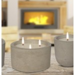 Raw Cement Candle | 3 Wick | Lemongrass