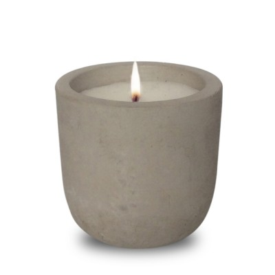 Raw Cement Candle | Round Base