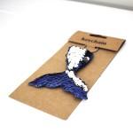 Reversible Sequin Mermaid Keyring