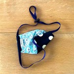 Navy Polka & Floral   Reversible Cotton Masks