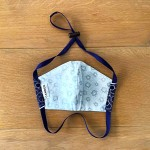 Navy Shweshwe & Grey Floral | Reversible Cotton Masks
