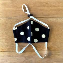 Black Polka & Grey | Reversible Cotton Masks
