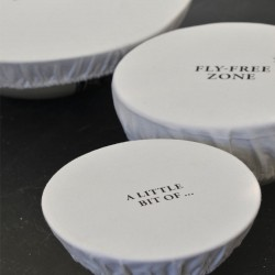 Set of 3 Bowl Covers | Fly-Free Zone