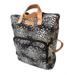 City Slicker Backpack | Fine print Parchment on Black