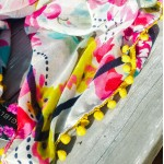 Scarf   Blooming Bold Pompom