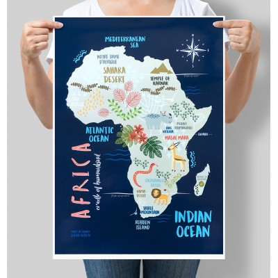 AFRICA Poster | Blue A2