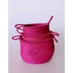 Set 3 | Pink Seagrass Baskets