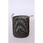 Set 3 | Black Woven Seagrass Baskets