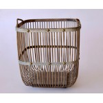 Set 2 | Natural & Metal Bamboo Baskets