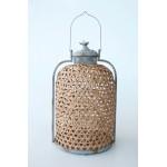Bamboo & Metal Lantern |  X Large