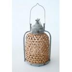Bamboo & Metal Lantern | Medium