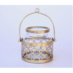 Gold Moroccan Glass Lantern