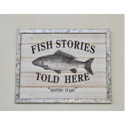 Fish Stories | Wooden Sign