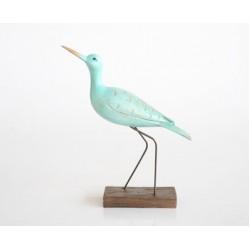 Turquoise Sea Bird on Stand Medium