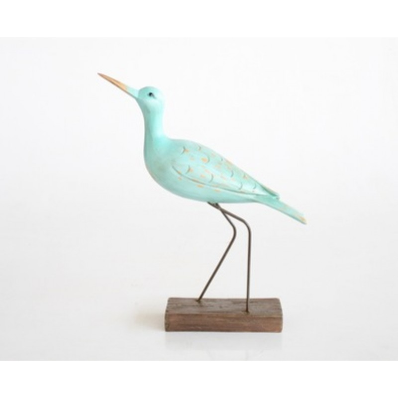 Turquoise Sea Bird on Stand Medium