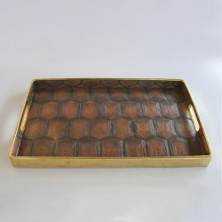 Brown Tortoise Shell Tray