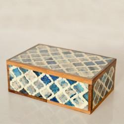 Grey, White & Blue Bone Box