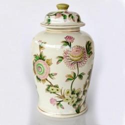 Large Ginger Jar Pink Flower Design