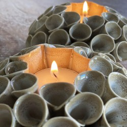 Set of 2 Lotus Flower Candle Holders