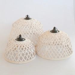 Set Of 3 Bamboo Domes