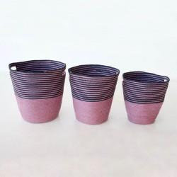 Set 3 | Navy Mauve Baskets