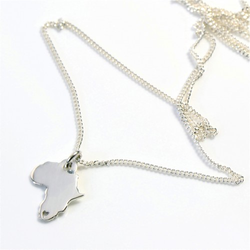 AFRICA on Silver Chain