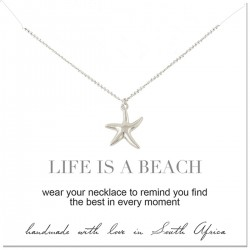 Starfish Pendant on Silver Necklace